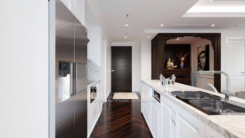 Thiết kế nội thất phòng bếp chung cư emerald mỹ đình nam từ liêm hà nội