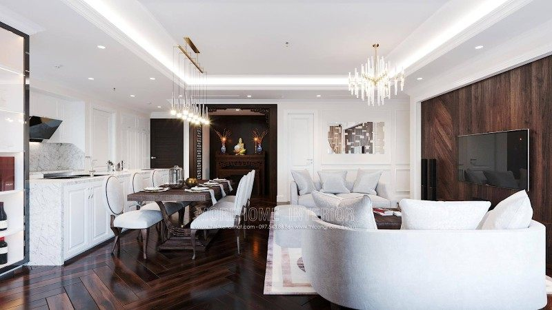 Thiết kế nội thất chung cư tân cổ điển Emerald mỹ đình nam từ liêm hà nội