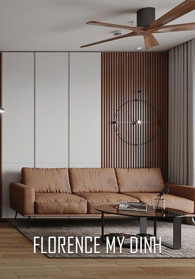 Thiết kế nội thất chung cư hiện đại tại Florence Mỹ Đình, Nam Từ Liêm, Hà Nội.