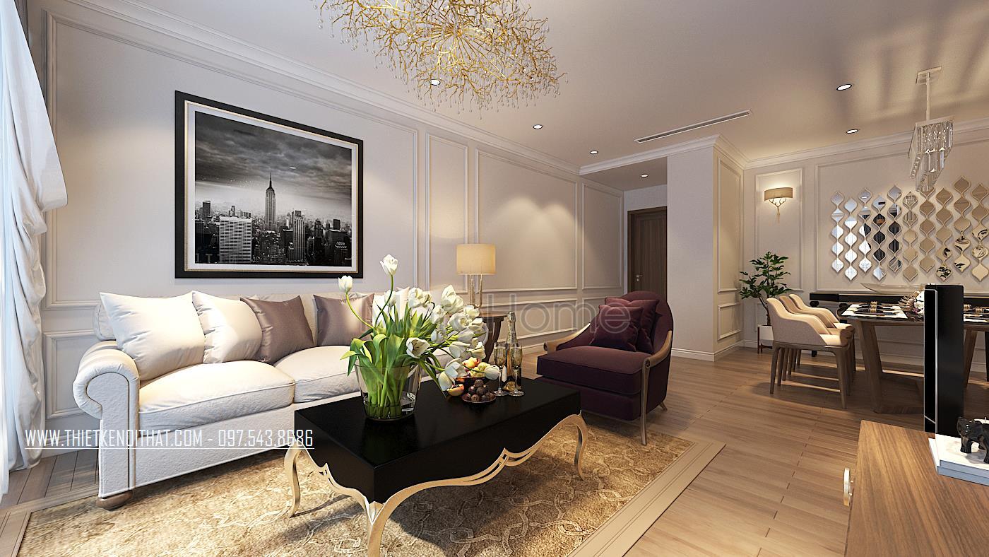 Thiết kế nội thất chung cư tân cổ điển tại Vinhomes Gardenia