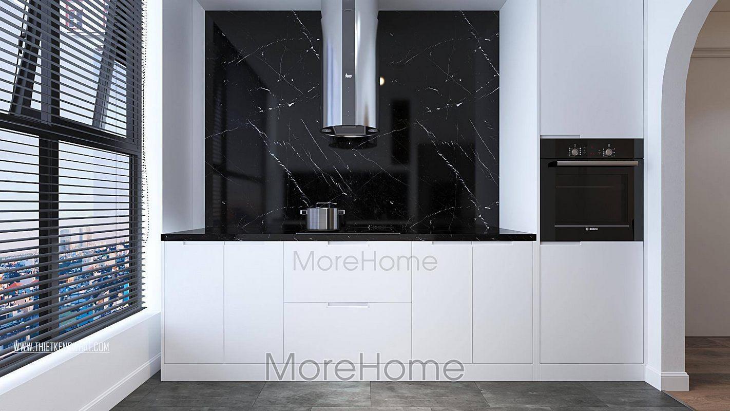 Thiết kế phòng bếp chung cư green bay nam từ liêm hà nội
