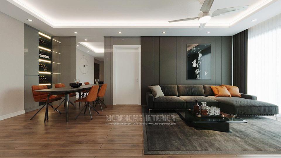 Thiết kế nội thất phòng khách chung cư imperia sky garden minh khai hà nội