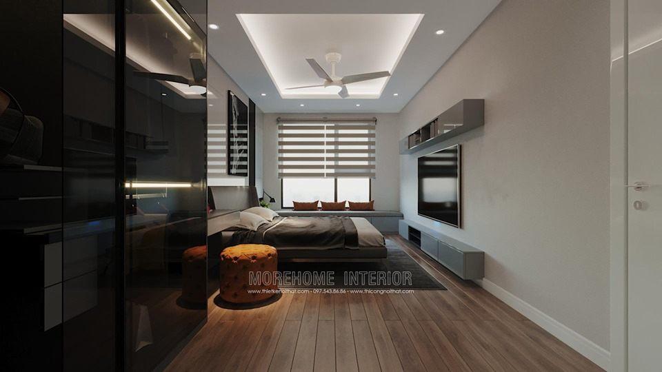 Thiết kế nội thất phòng ngủ chung cư imperia sky garden minh khai hà nội