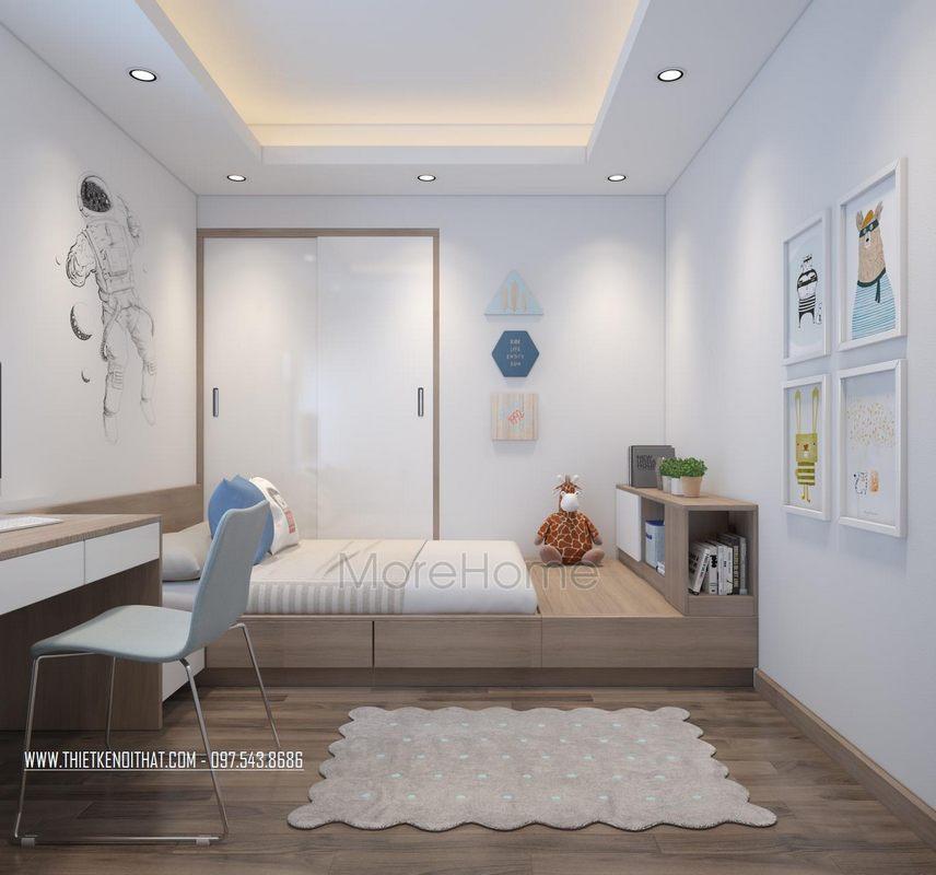 Thiết kế nội thất chung cư Ngoại Giao Đoàn đẹp, hiện đại