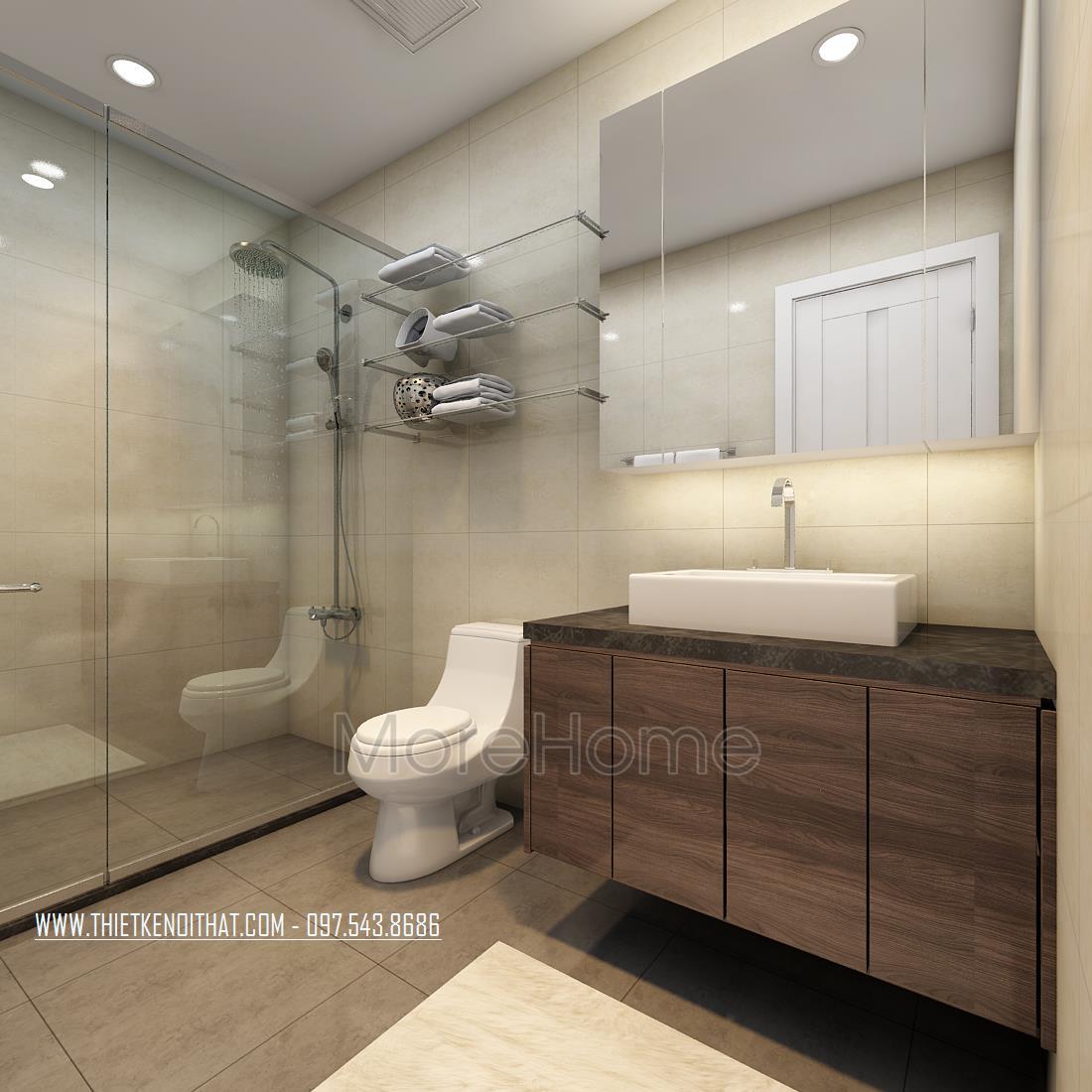 Thiết kế phòng tắm chung cư Ngoại Giao Đoàn