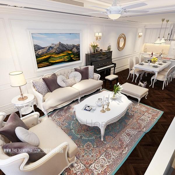 Thiết kế chung cư tân cổ điển cao cấp tại Royal City