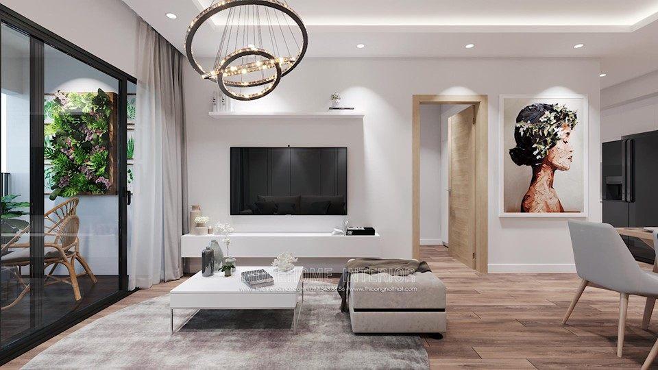 Thiết kế nội thất phòng khách chung cư vinhomes skylake phạm hùng