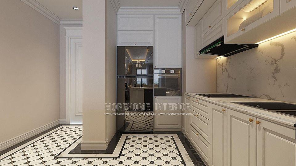 Tủ bếp đẹp cho chung cư times city quận hai bà trưng hà nội