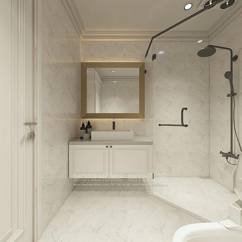 Thiết kế phòng tắm nhà vệ sinh chung cư times city quận hai bà trưng hà nội