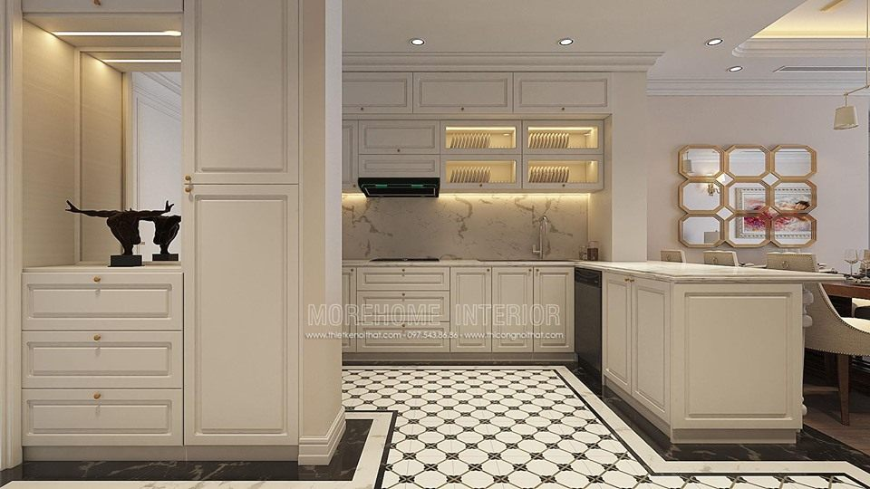 Thiết kế nội thất chung cư tân cổ điển times city quận hai bà trưng hà nội
