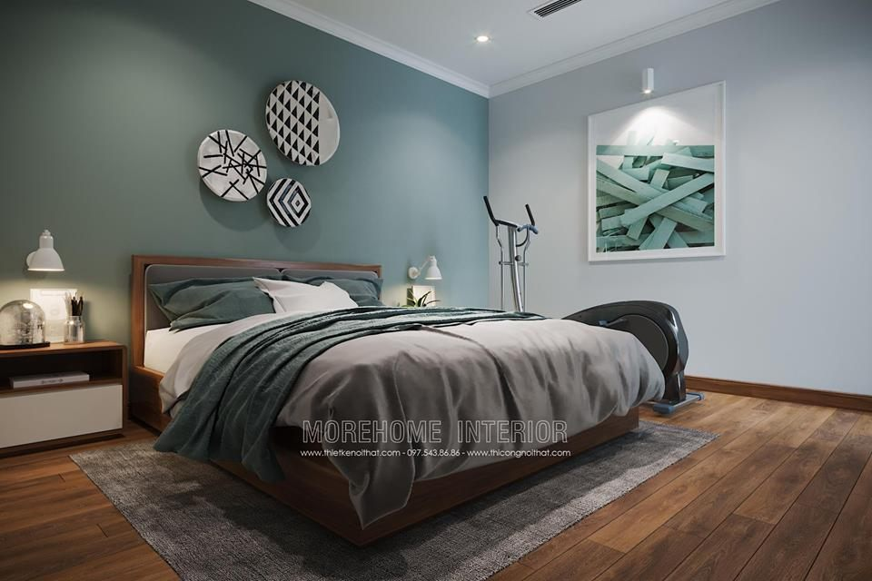Thiết kế nội thất phòng ngủ chung cư park 1 times city quận hai bà trưng