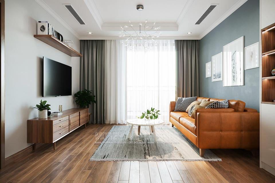 Thiết kế nội thất phòng khách chung cư park 1 times city quận hai bà trưng