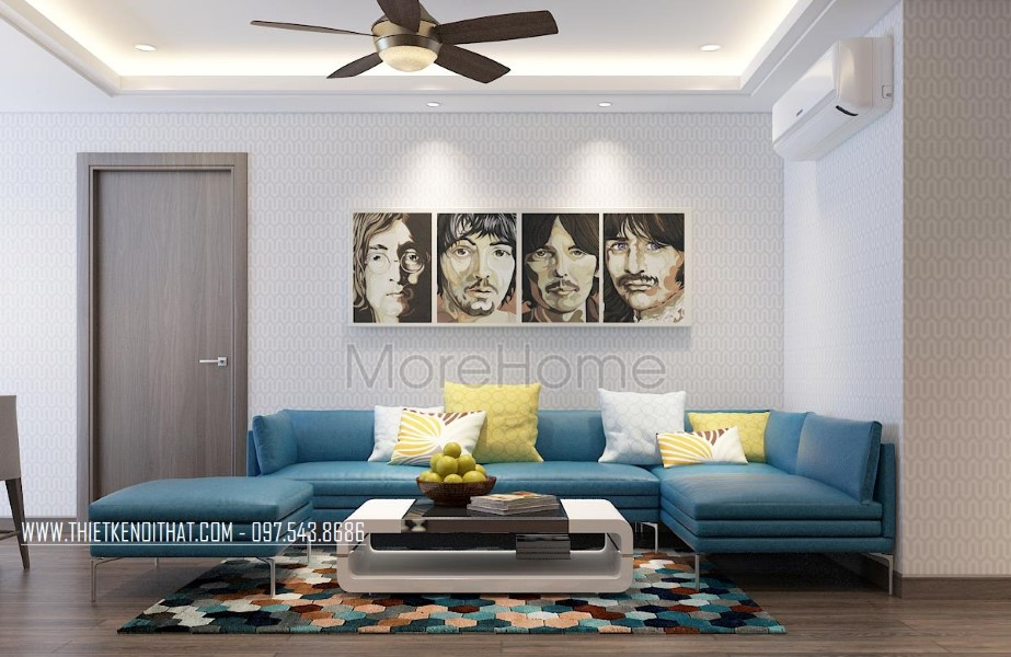 Thiết kế nội thất căn hộ chung cư Tràng An