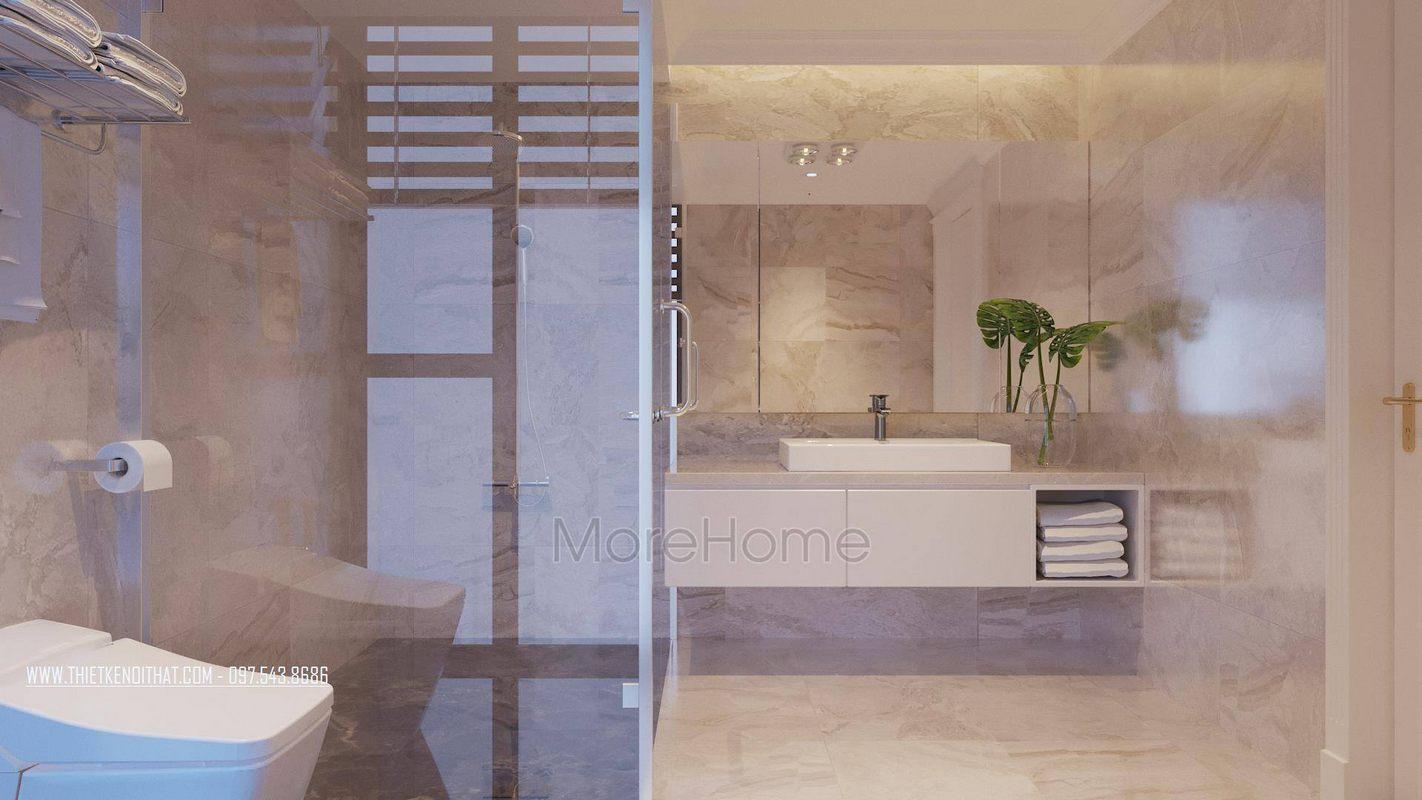 Thiết kế nội thất phòng tắm nhà vệ sinh căn hộ duplex thanh xuân hà nội