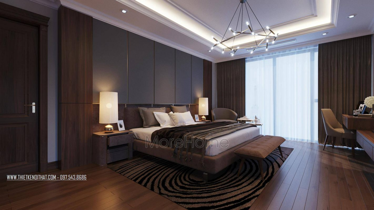 Thiết kế nội thất phòng ngủ căn hộ duplex thanh xuân hà nội