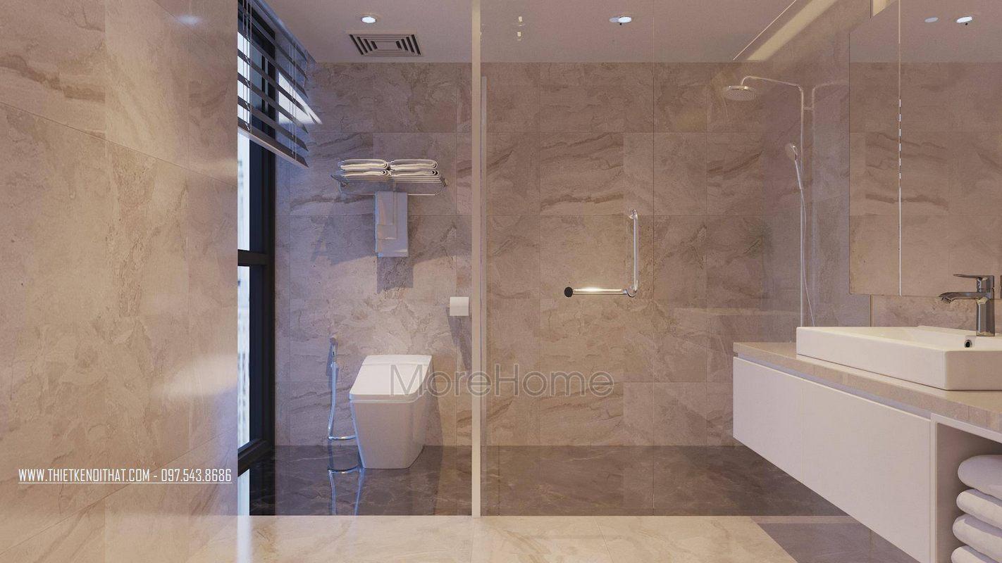 Thiết kế phòng tắm nhà vệ sinh căn hộ duplex thanh xuân hà nội