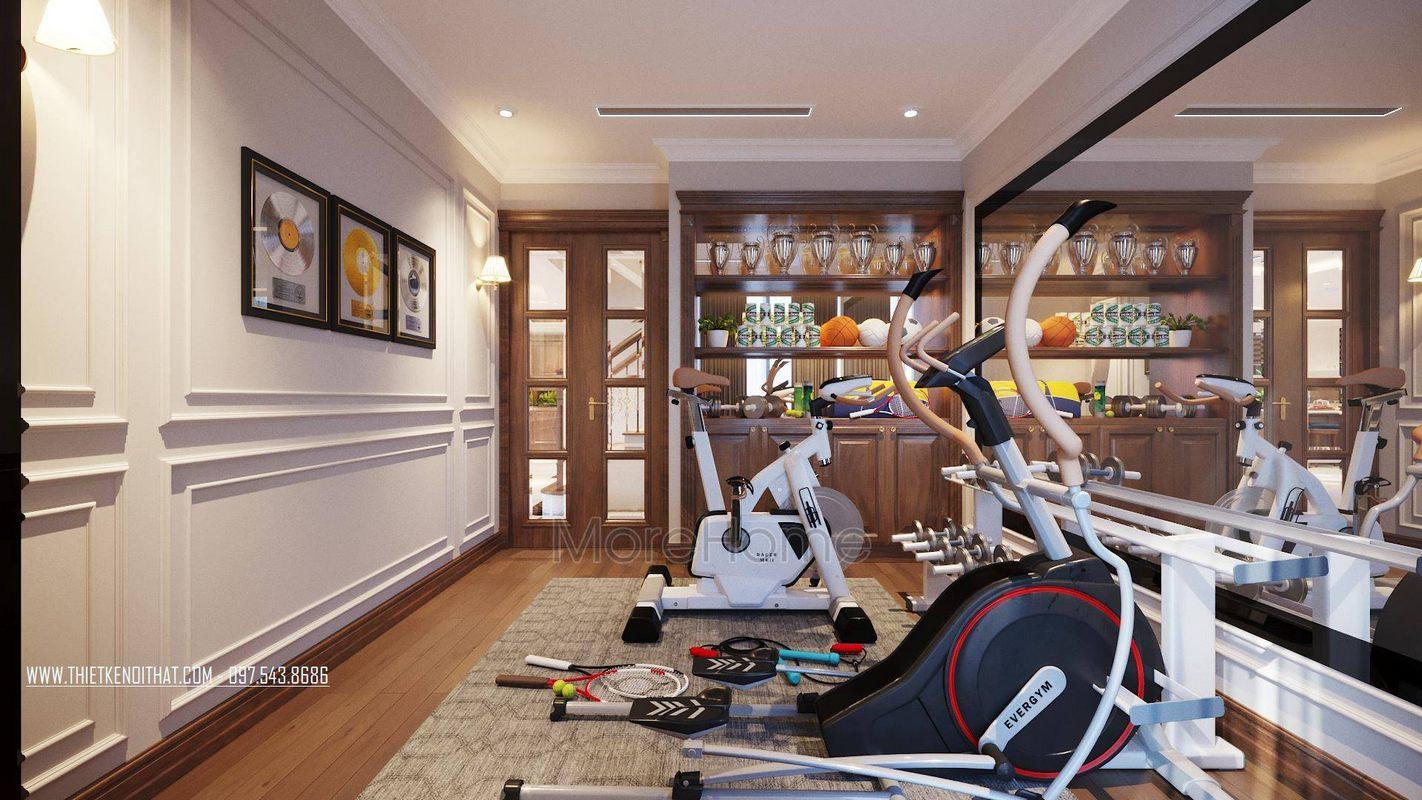 Thiết kế khu vực tập gym tại căn hộ duplex thanh xuân hà nội