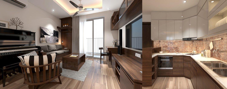Thiết kế nội thất chung cư Home City