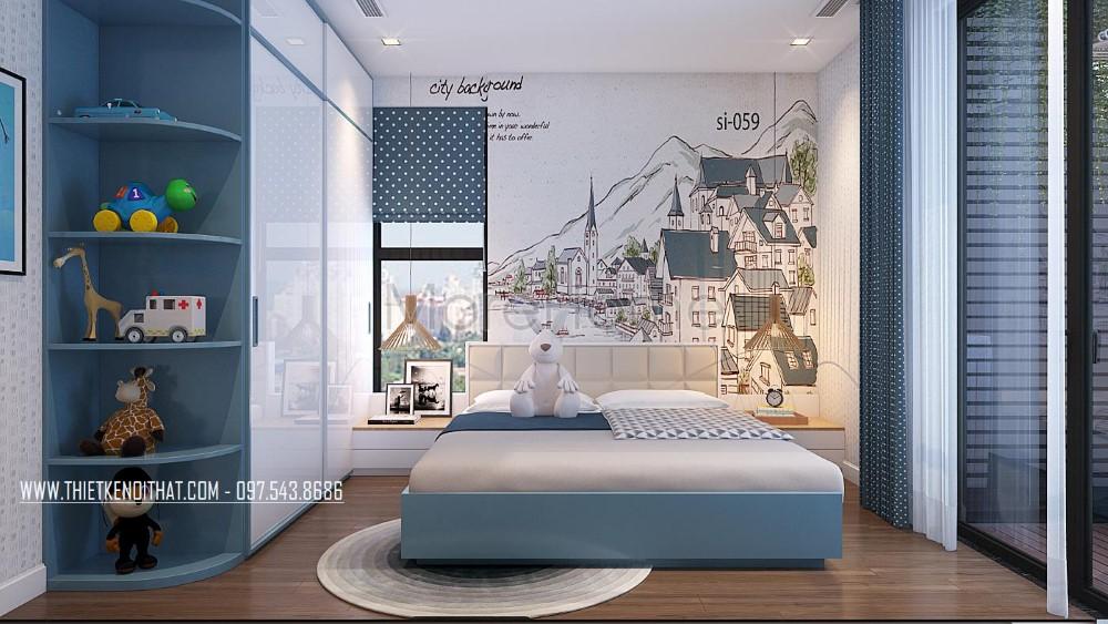 Thiết kế nội thất chung cư hiện đại Imperia Garden - nhà chị Ngọc