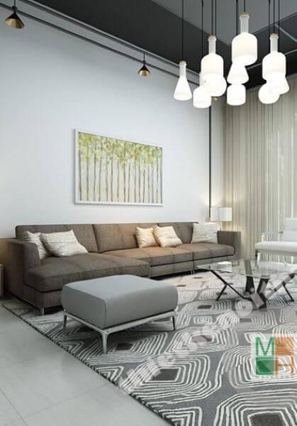 Thiết kế nhà liền kề kết hợp văn phòng làm việc phong cách hiện đại
