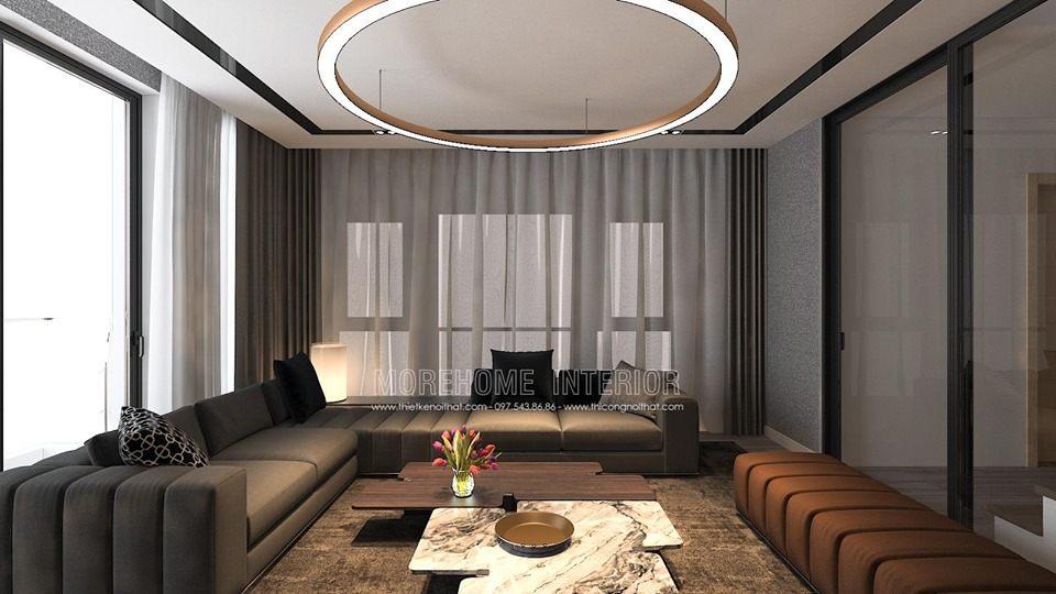 Thiết kế nội thất phòng khách minori village 67a trương định hai bà trưng hà nội