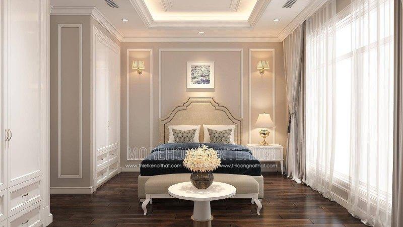 Thiết kế nội thất phòng ngủ nhà liền kề an hưng la khê hà đông