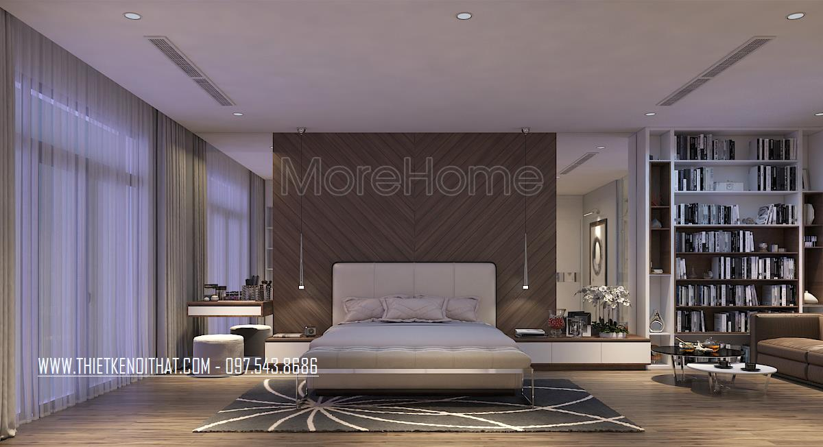 Thiết kế nội thất phòng ngủ nhà liền kề Đại Kim