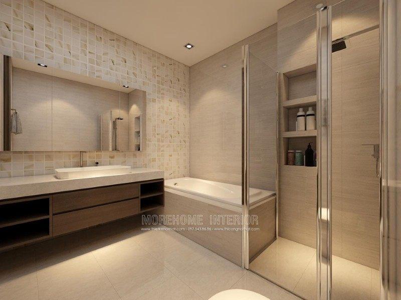 Thiết kế phòng tắm nhà vệ sinh cho nhà lô tại quận hồng bàng hải phòng