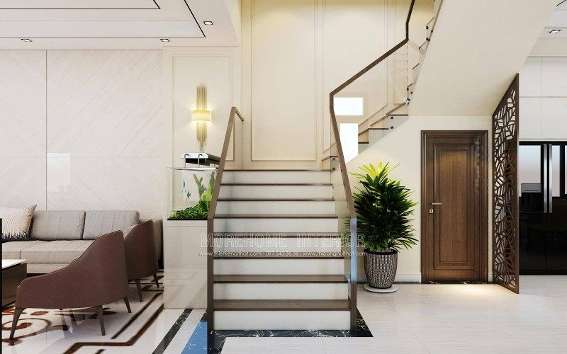 Cầu thang đẹp cho nhà lô sở dầu hồng bàng hải phòng