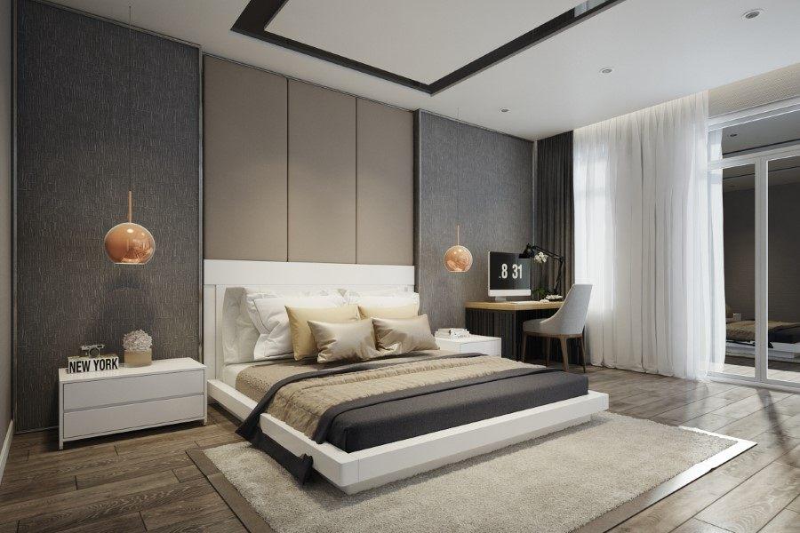 Thiết kế nội thất phòng ngủnhà phố Quận 8 tphcm hiện đại
