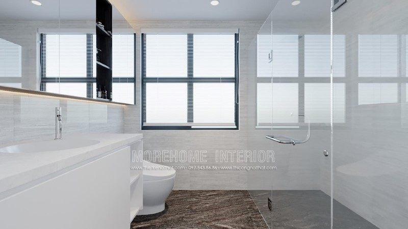 Thiết kế phòng tắm, nhà vệ sinh cho nhà phố trần bình