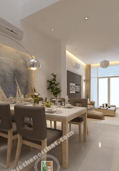 Thiết kế nội thất nhà phố, quận Bình Thạnh, Tp Hồ Chí Minh - Chị Hiền
