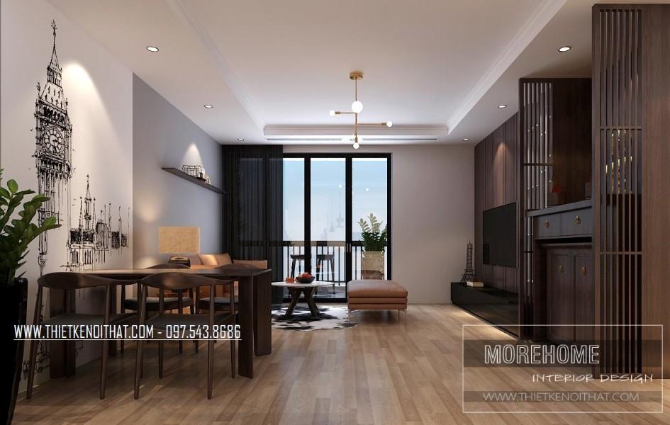 Thiết kế thi công nội thất chung cư Park Hill cao cấp