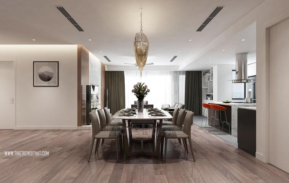 Thiết kế nội thất chung cư Penthouse Imperia Garden