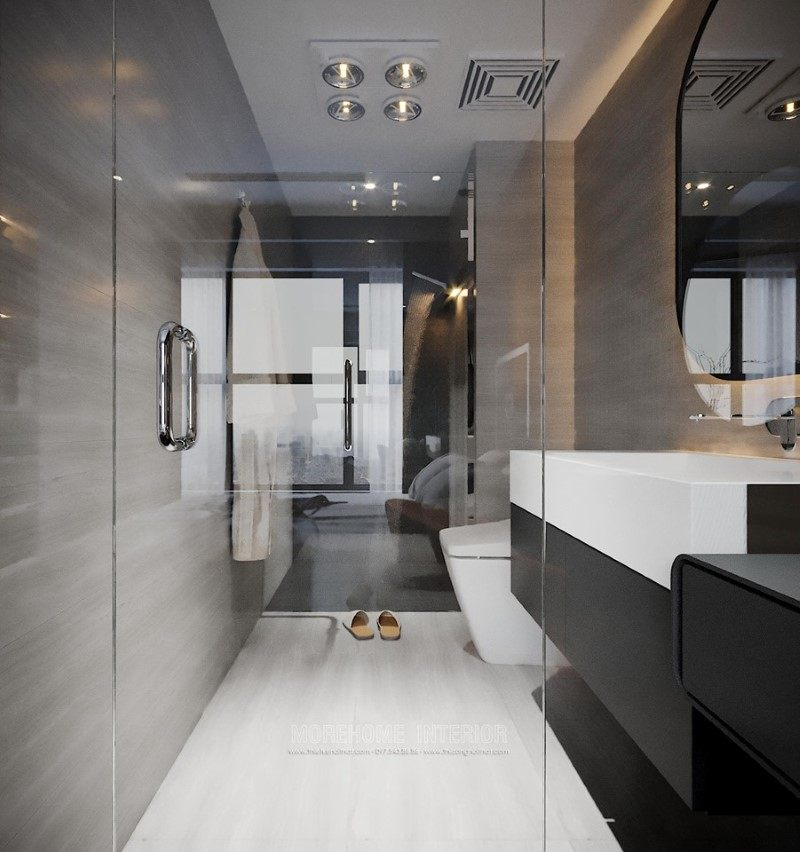 Thiết kế nội thất phòng tắm, nhà vệ sinh cho penthouse ecopark hưng yên