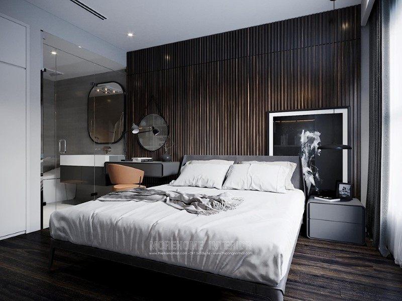Thiết kế nội thất phòng ngủ penthouse ecopark hưng yên