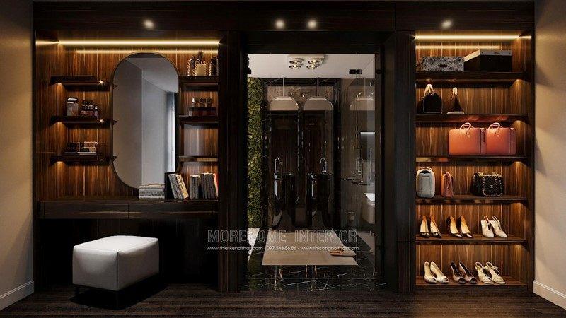Tủ áo đẹp cho penthouse ecopark hưng yên