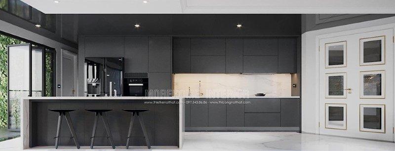 Thiết kế tủ bếp hiện đại cho penthouse ecopark hưng yên