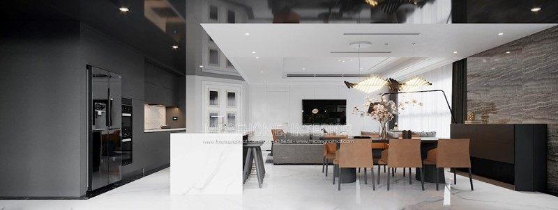 Thiết kế nội thất phòng ăn penthouse ecopark hưng yên