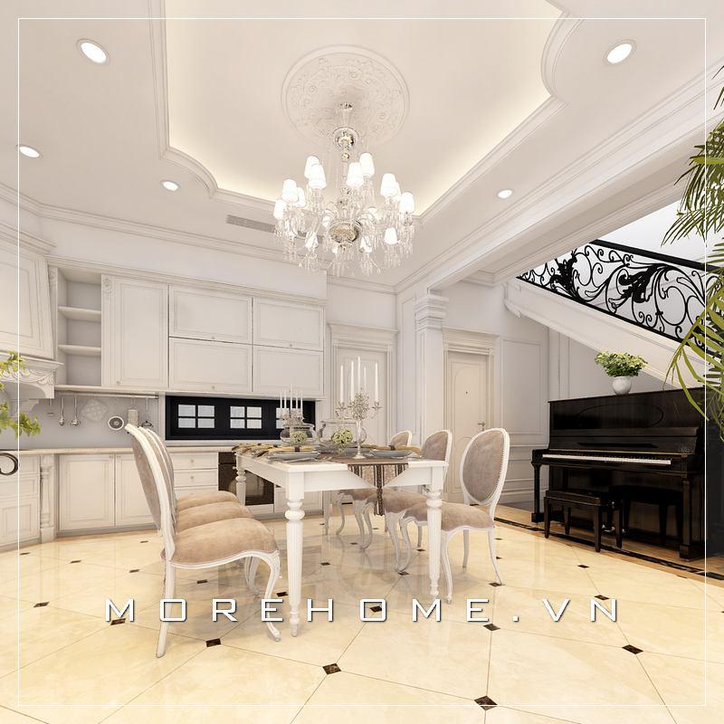 Thiết kế nội thất phòng ăn đẹp sang trọng