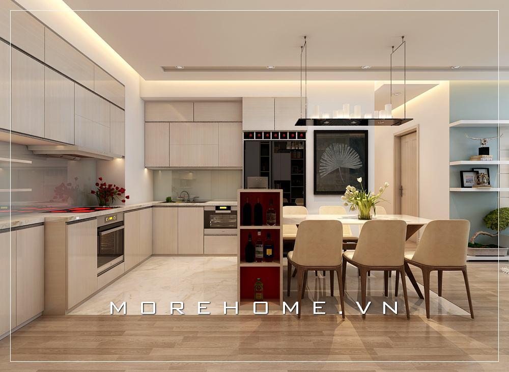 Thiết kế nội thất phòng bếp ăn đẹp