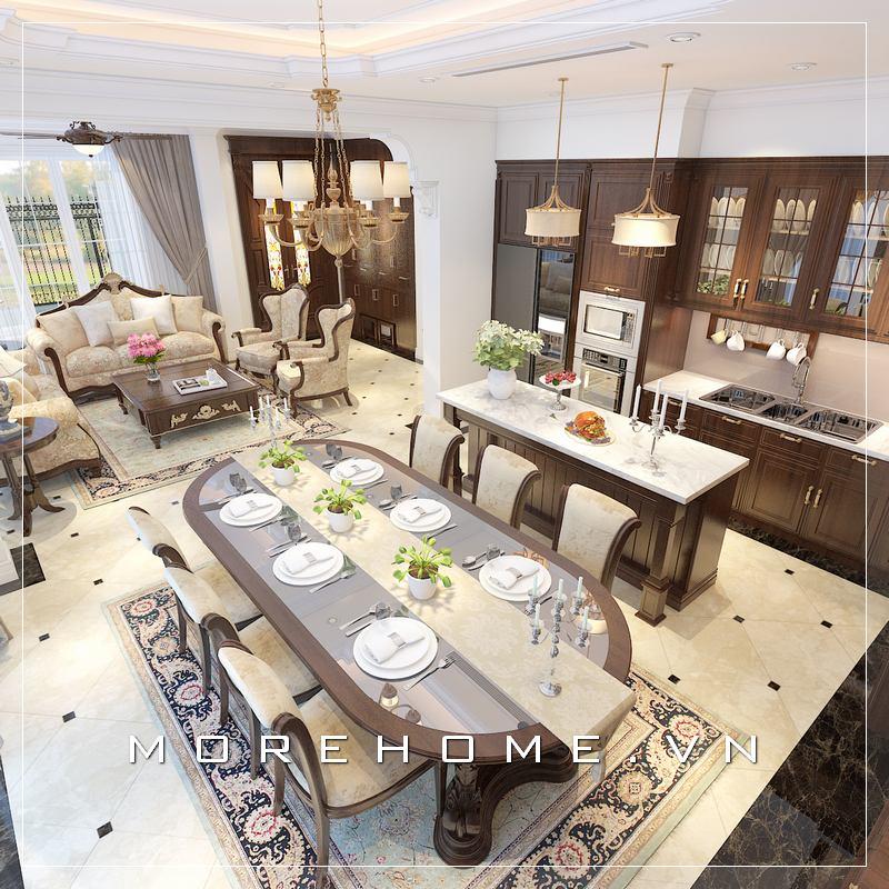 Thiết kế phòng bếp biệt thự đẹp