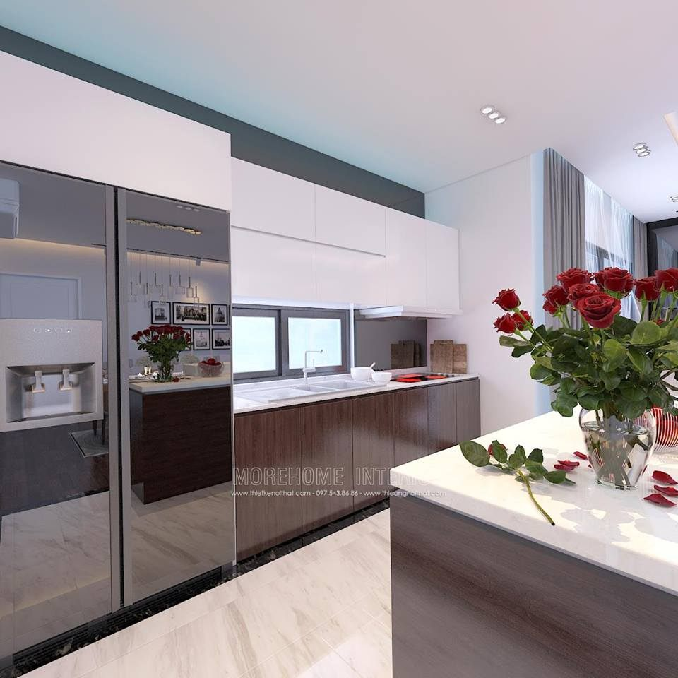 Thiết kế căn hộ mẫu 98m2 tại Imperia Sky Garden
