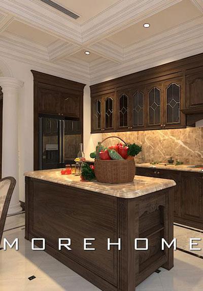 Thiết kế nội thất phòng bếp hiện đại và cao cấp khiến gia chủ mê mẩn