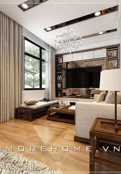 Thiết kế nội thất phòng khách biệt thự, nhà phố đẹp, sang trọng