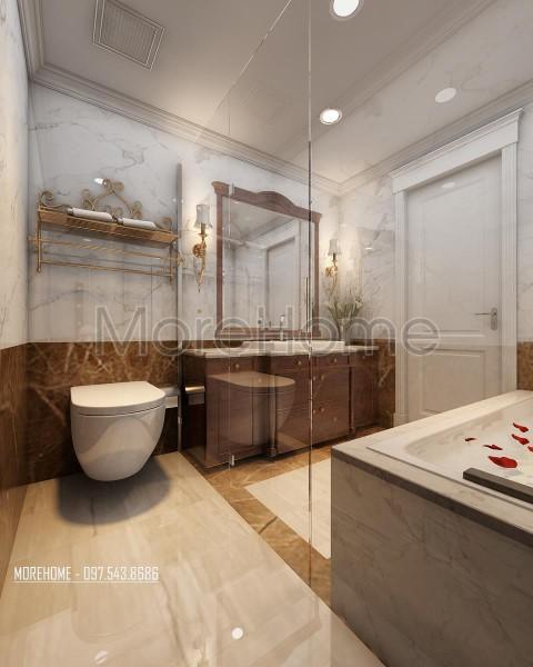 Thiết kế nội thất căn hộ chung cư Royal City tân cổ điển