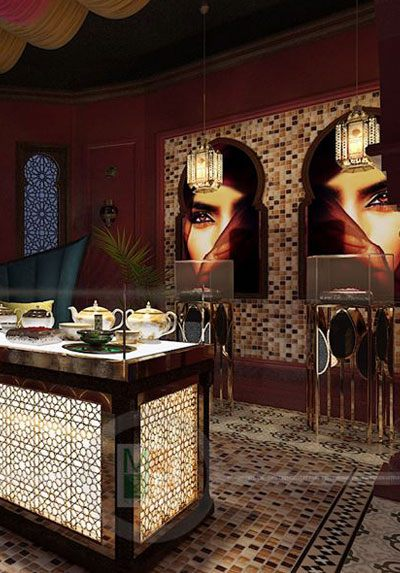 Thiết kế nội thất showroom Saffron làm đẹp dược phẩm nổi tiếng