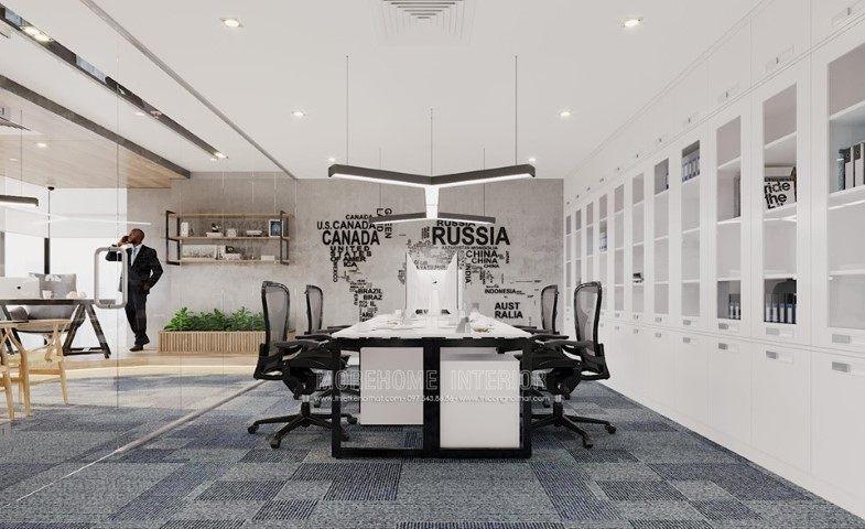 Thiết kế nội thất văn phòng công ty lũng lô tại Skylight Minh Khai Hà Nội