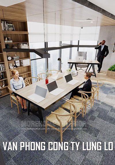 Thiết kế nội thất văn phòng đẹp công ty Lũng Lô hiện đại đẹp