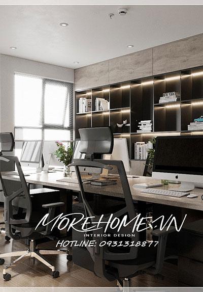 Thiết kế nội thất văn phòng hiện đại công ty NEWTEC